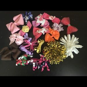 🍍20 assorted hair bows (mostly Gymboree)🍍